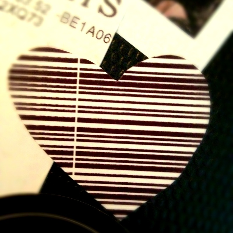 Airline Baggage Claim Ticket Heart-O-Gram